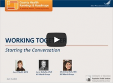 Image of first screen of Working Together webinar