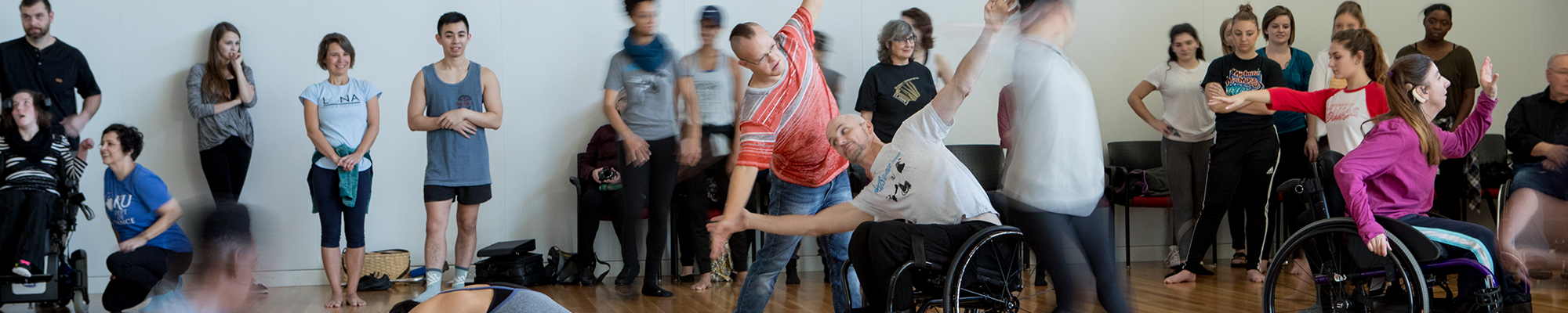Wheelchair dancers.