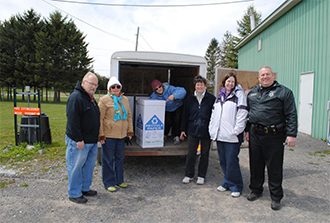 Photo of Volunteers from Landfill, STOP-DWI, RSVP and Prevention Council at Collection Event