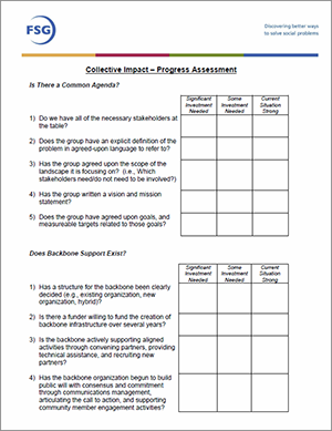 Image of Collective Impact Progress Assessment doc.