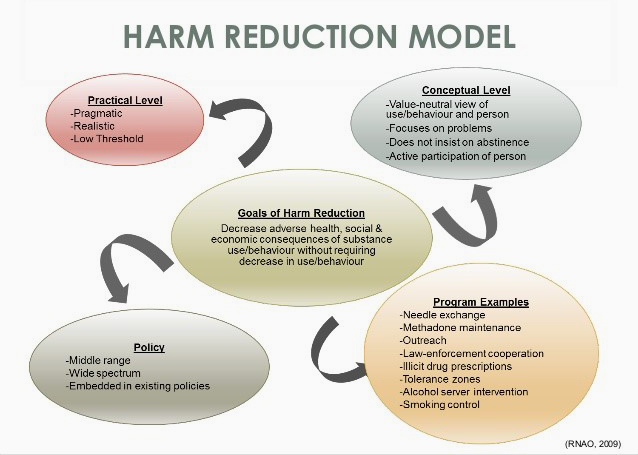 Chart of Harm Reduction Model