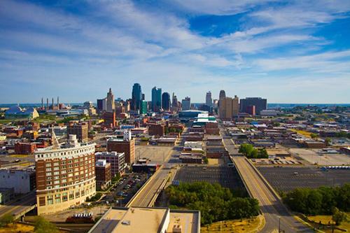 Kansas City skyline.