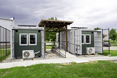 Photo of two tiny homes.