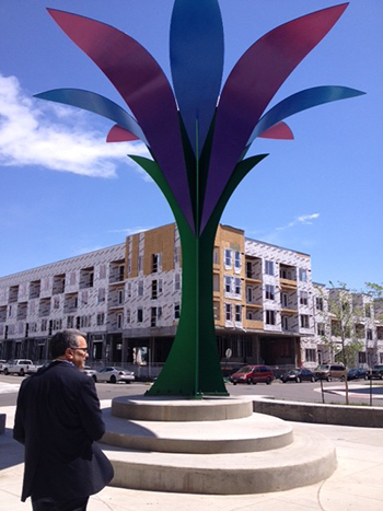 Photo of DHA Executive Director Ismael Guerrero at the Mariposa development in Denver, Colo.