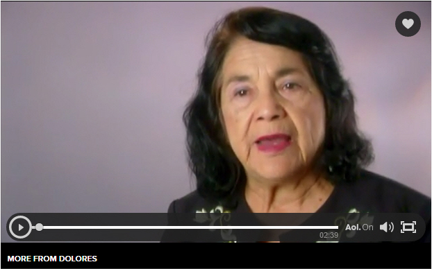 Dolores Huerta video image.