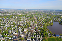 Areal photo of Arlington, Mass.