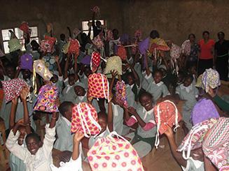Photo of happy beneficiaries.