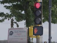 Photo of a stoplight in Emporia, Kansas.