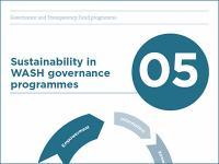 Cover image of the Sustainability in WASH governance programmes guide.