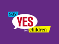 Say Yes for Children logo.