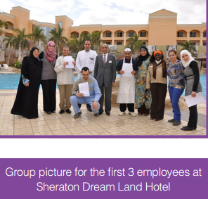 Group picture for the first 3 employees at Sheraton Dream Land Hotel