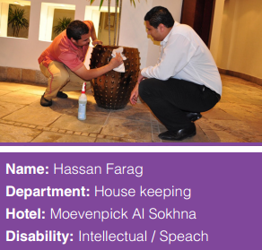 Image of Hassan Farag in the Housekeeping Department at the hotel Moevenpick Al Sokhna.