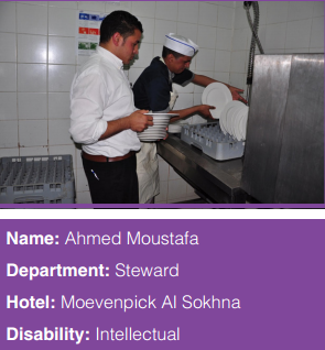 Photo of Ahmed Moustafa, a steward at the hotel Moevenpick Al Sokhna