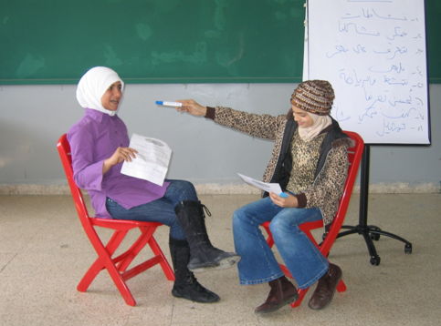 Image of two women in classroom