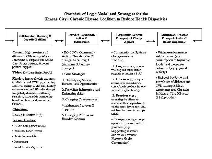 Example 6 Overview Of Logic Model And Strategies For The Kansas